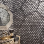 Chic And Stylish Powder Room